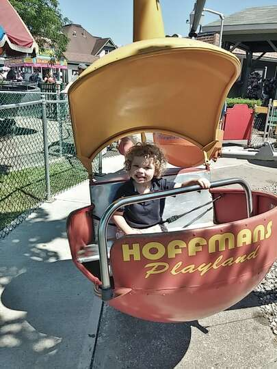 Daniel and his father Brad Maione of Bethlehem recently had a great day at Hoffman's Playland.