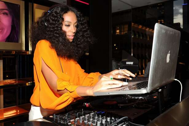 When not singing, being a mom and fashion trendsetter and getting into elevator bust-ups with her brother-in-law Jay-Z, Solange Knowles works as a DJ at many events, like this one for Chimes for Change in 2014.