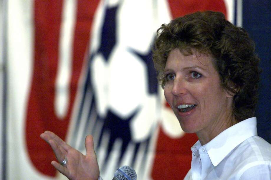 Michelle Akers — soccerA graduate of Shorecrest High School in Shoreline, where she was a soccer star, Akers played for the United States in three women's World Cups, winning it all in 1991 and 1999, and placing third in 1995. Also a gold medalist at the 1996 Atlanta Olympics, the midfielder and forward was voted FIFA's Female Player of the Century in 2002, and was inducted into the U.S. National Soccer Hall of Fame in 2004. Photo: Loren Callahan, Seattle P-I Archives