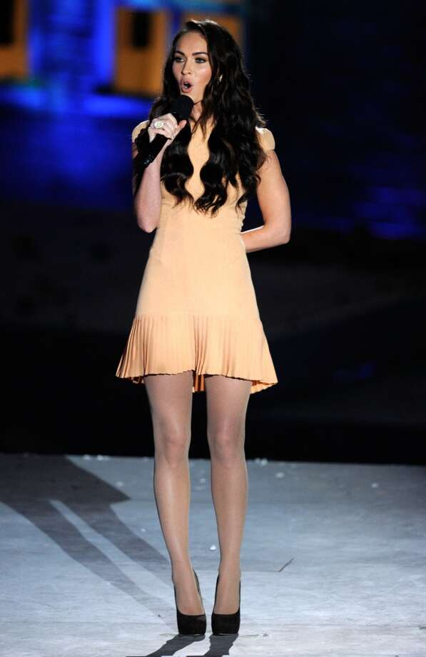 """LOS ANGELES, CA - OCTOBER 16:  Actress Megan Fox speaks onstage during Spike TV's """"Scream 2010"""" at The Greek Theatre on October 16, 2010 in Los Angeles, California.  (Photo by Michael Caulfield/Getty Images) Photo: Getty Images"""