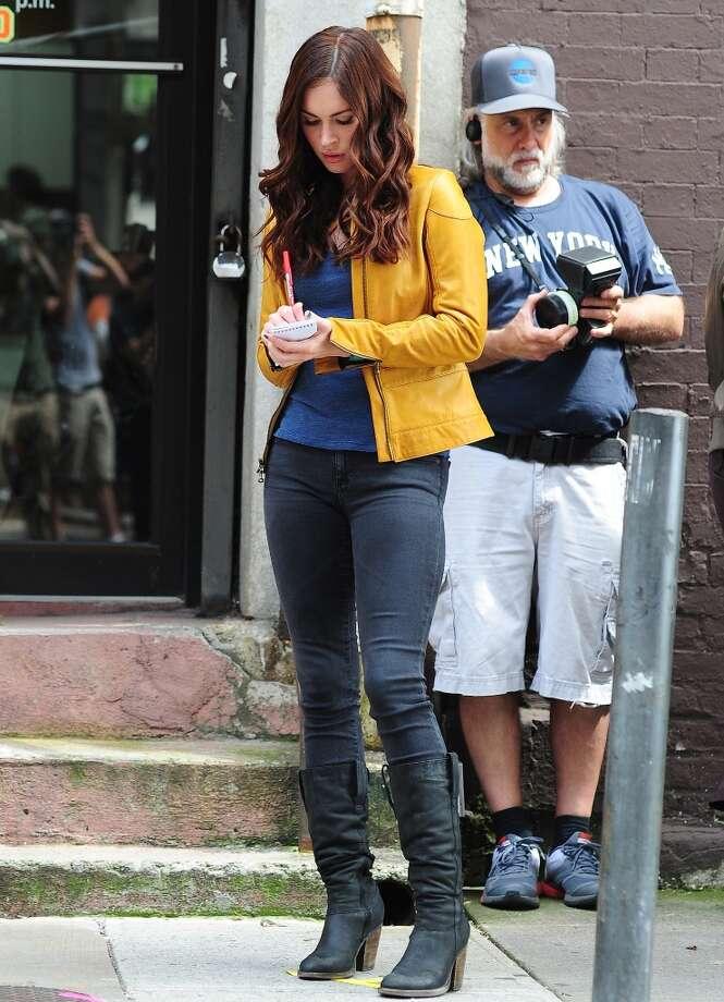 NEW YORK, NY - JULY 24: Megan Fox is seen on the set of 'Teenage Mutant Ninja Turtles'  on July 24, 2013 in New York City. (Photo by Alo Ceballos/FilmMagic) Photo: FilmMagic