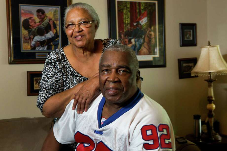 Louise and Gene Strahan saw the football talent in their son, Michael, and decided to have him leave his German home to hone his skills in Houston. Photo: Brett Coomer, Staff / © 2014 Houston Chronicle