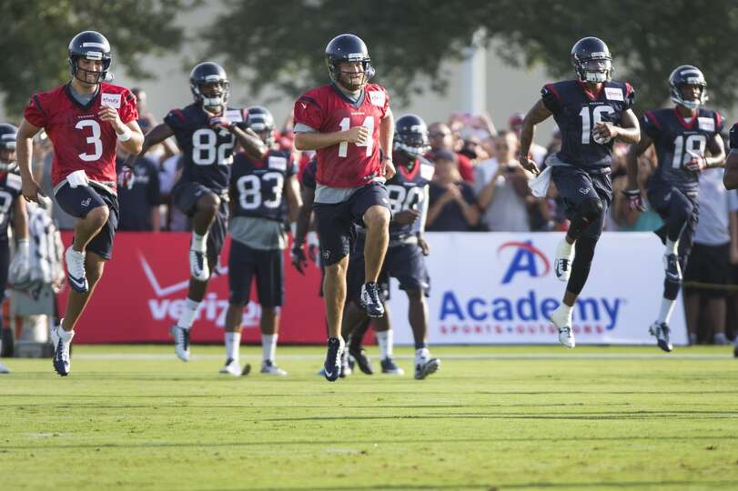 Day 1: July 26  Quarterbacks Tom Savage (3) and Ryan Fitzpatrick (1