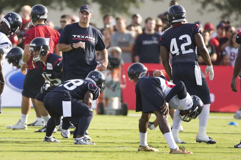 Day 1: July 26  Head coach Bill O'Brien walks across the field as h