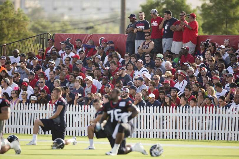 Day 1: July 26  Fans watch practice from the stands during training