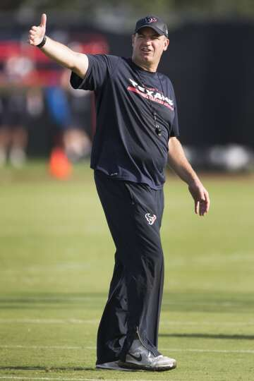 Day 1: July 26  Head coach Bill O'Brien calls out instructions.