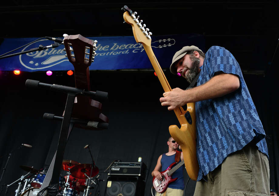Matt Miklus, of the Alpaca Gnomes, performs during the Blues on the Beach music festival at Short Beach Park in Stratford, Conn. on Saturday July 26, 2014. Photo: Christian Abraham / Connecticut Post