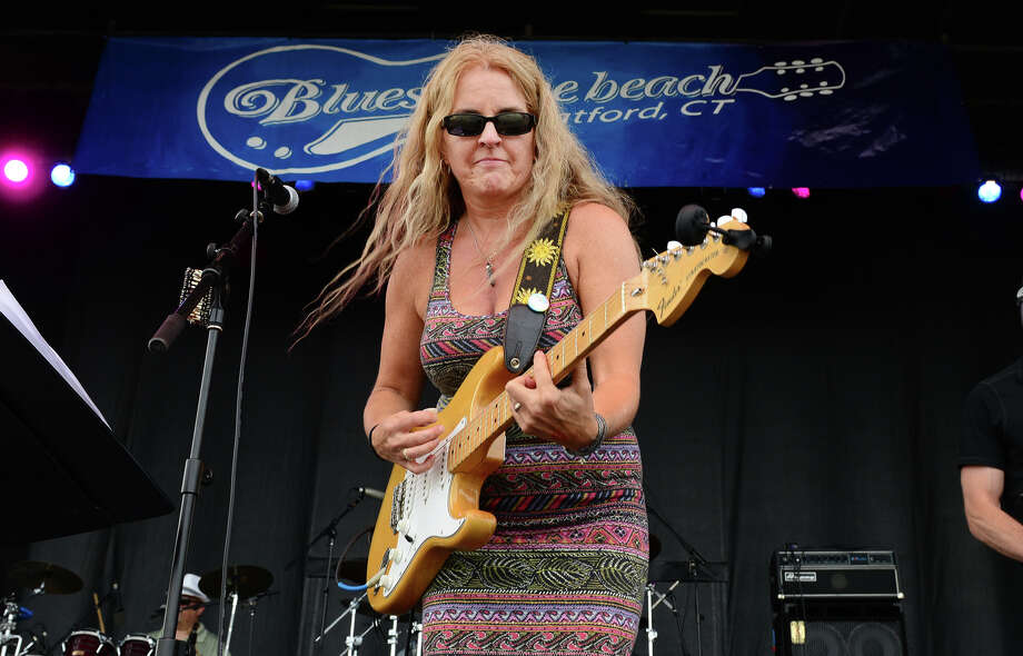 Kathy Thompson, of the Kathy Thompson Band, performs during the Blues on the Beach music festival at Short Beach Park in Stratford, Conn. on Saturday July 26, 2014. Photo: Christian Abraham / Connecticut Post