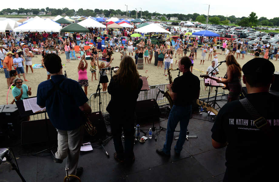 The Alpaca Gnomes perform during the Blues on the Beach music festival at Short Beach Park in Stratford, Conn. on Saturday July 26, 2014. Photo: Christian Abraham / Connecticut Post