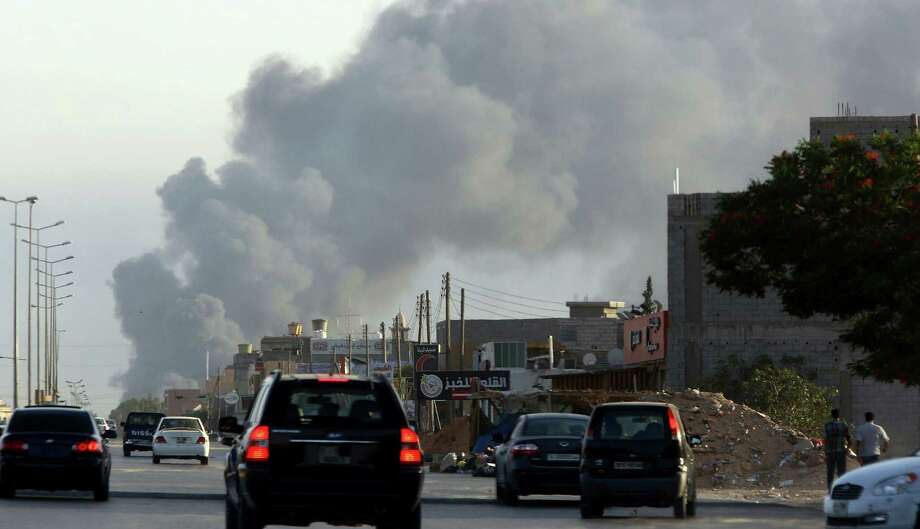 Fierce fighting between rival militias near Tripoli International Airport last week also prompted the State Department to issue a travel warning. Photo: Mahmud Turkia / Getty Images / AFP