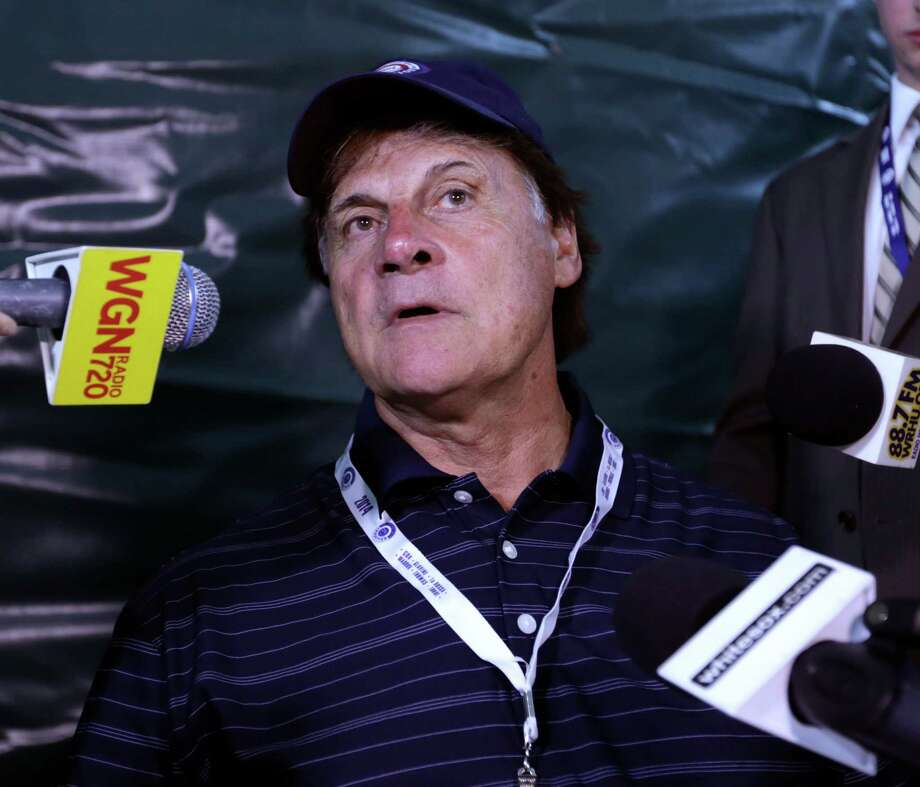 Former Major League Baseball manager Tony La Russa speaks during a news conference on Saturday, July 26, 2014, in Cooperstown, N.Y. La Russa will be inducted to the Baseball Hall of Fame on Sunday. (AP Photo/Mike Groll) ORG XMIT: NYMG121 Photo: Mike Groll / AP