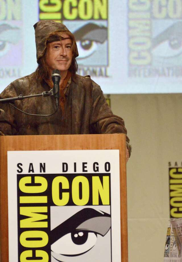 "Stephen Colbert attends the Warner Bros. Pictures panel for ""The Hobbit: The Battle of the Five Armies"" on Day 3 of Comic-Con International on Saturday, July 26, 2014, in San Diego. Photo: Richard Shotwell, Richard Shotwell/Invision/AP / Invision"
