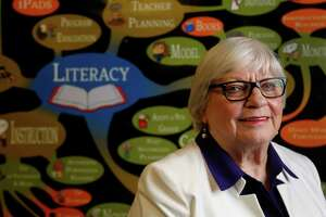 Bertie Simmons, the principal of Furr High School photographed, Thursday, July 10, 2014, in Houston. Simmons has witnessed numerous literacy initiatives in HISD in her five decades with the district.