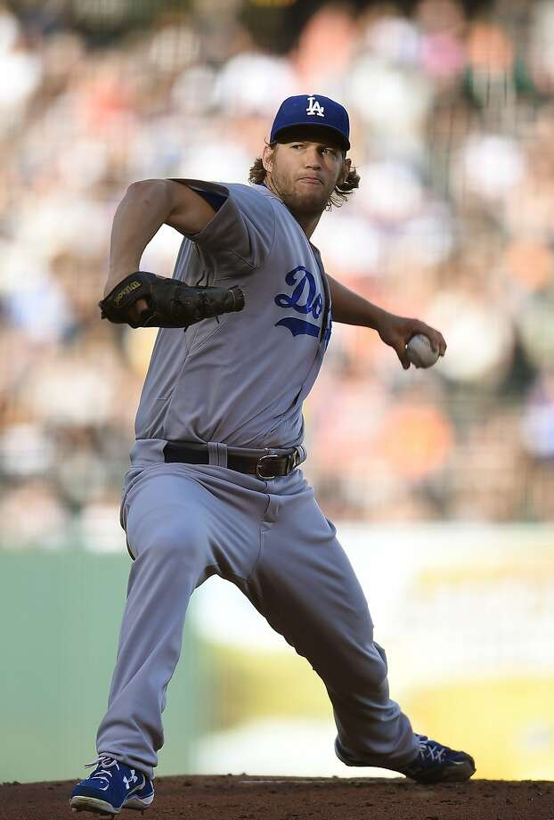 Clayton Kershaw was his usual dominant self, improving to 12-2 against the Giants. His two-hitter reduced his career ERA at China Basin to 0.69. Photo: Thearon W. Henderson, Getty Images