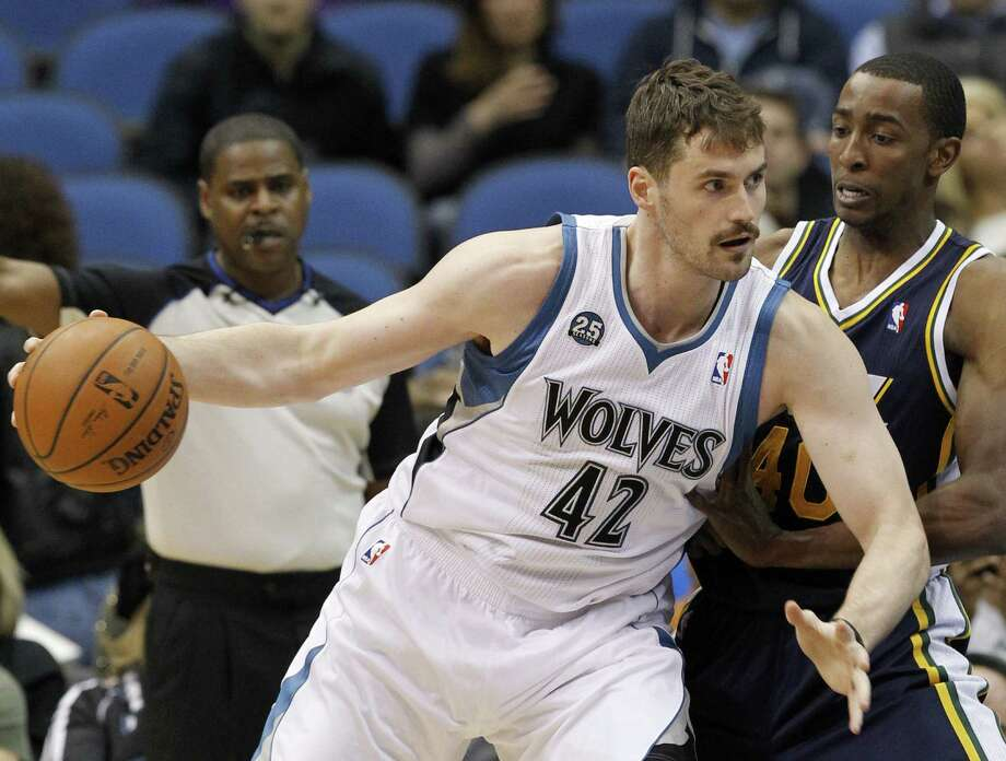 With uncertainty surrounding his future in Minnesota, Kevin Love will skip the FIBA World Cup after helping the United States win the gold medal at the London Olympics in 2012. Photo: Ann Heisenfelt / Associated Press / FR13069 AP