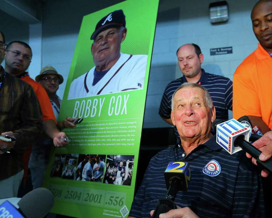 Former Braves skipper Bobby Cox is going into the Baseball Hall of Fame with two other managers, Joe Torre and Tony La Russa. / Atlanta Journal-Constitution