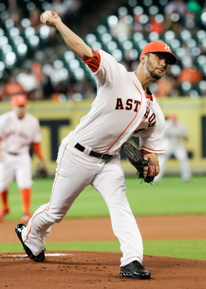 July 26: Marlins 7, Astros 3Jarred Cosart throws in the first inning. Photo: Bob Levey, Getty Images