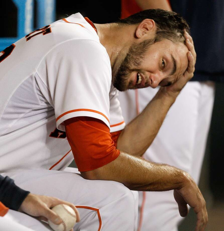 July 26: Marlins 7, Astros 3Astros starter Jarred Cosart couldn't overcome his early struggles in a home loss to Miami.  Record: 42-62. Photo: Bob Levey, Getty Images