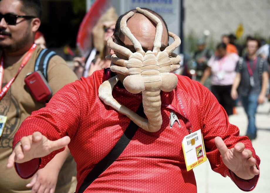 SAN DIEGO, CA - JULY 26:  A cosplayer attends Day 3 of Comic-Con International 2014 on July 26, 2014 in San Diego, California. Photo: Frazer Harrison, Getty Images / 2014 Getty Images