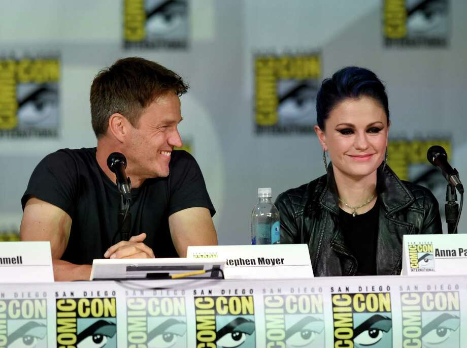 "SAN DIEGO, CA - JULY 26:  Actors Stephen Moyer (L) and Anna Paquin attend HBO's ""True Blood"" panel during Comic-Con International 2014 at San Diego Convention Center on July 26, 2014 in San Diego, California. Photo: Ethan Miller, Getty Images / 2014 Getty Images"