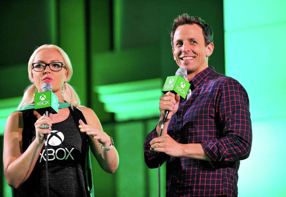 "SAN DIEGO, CA - JULY 26:  Actor Seth Meyers promotes Hulu's Original ""The Awesomes"" during Comic-Con for ""The Awesomes"" on July 26, 2014 in San Diego, California. Photo: Jerod Harris, Getty Images For Hulu / 2014 Getty Images"