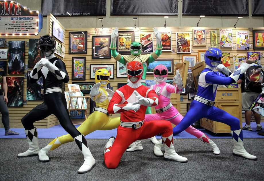 SAN DIEGO, CA - JULY 26:  The iconic Mighty Morphin Power Rangers strike a pose at San Diego Comic-Con International on July 26, 2014 in San Diego, CA. Photo: Chelsea Lauren, Getty Images For Saban Brands / 2014 Getty Images