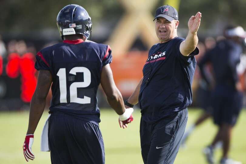 Day 2: July 27  Head coach Bill O'Brien gives instruction to wide r