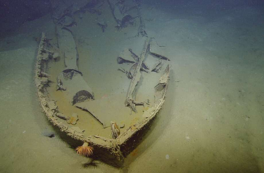 In this undated photo made available by the Ocean Exploration Trust shows a sunken vessel in the Gulf of Mexico. The U.S. vessel was sunk by a German submarine during World War II. Photo: Uncredited, AP  / AP2014