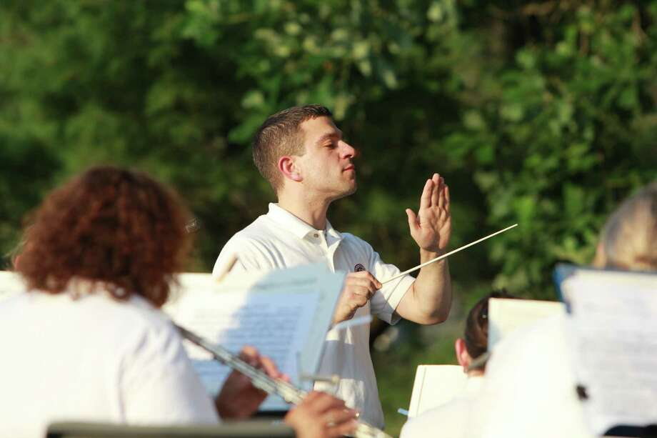 The Sound Beach Community Band  serenaded the assembled multitudes at Greenwich's Binney Park on Sunday, July 27th. Were you SEEN? Photo: Derek T.Sterling, Hearst Connecticut Media Group