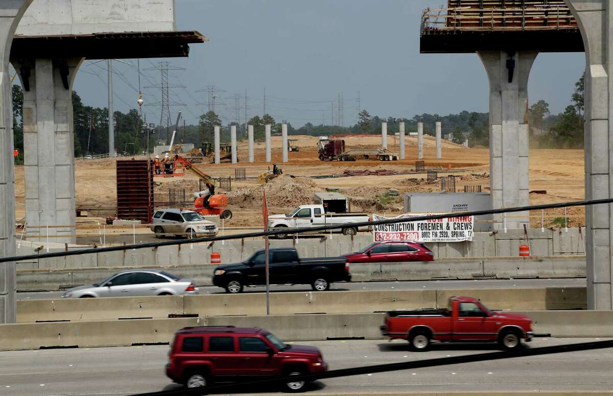 Looking east, construction of the Highway 99 bridge over Interstate 45 along the Grand Parkway northwest section Wednesday, July 23, 2014, in Houston, Texas. This segment of the SH 99 will connect Highway 290 with Highway 59. ( Gary Coronado / Houston Chronicle )