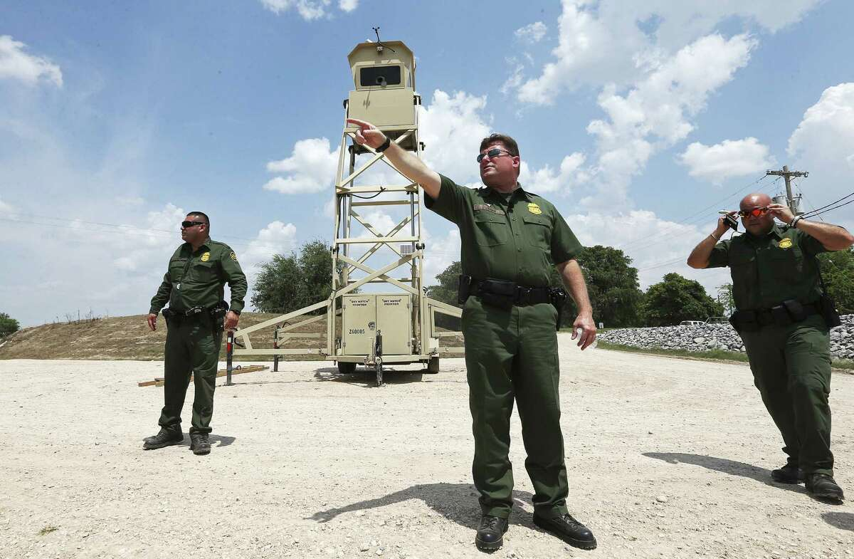 Rio Grande Chief Border Patrol Agent Kevin W. Oaks (center) oversees 316 miles along the border, from the mouth of the Rio Grande to Zapata County.
