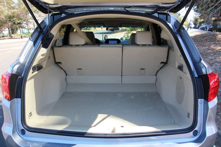 Behind the front seats, there's a cargo area of nearly 77 cubic feet, with the rear seats down, and 26 cubic feet with the seats up.