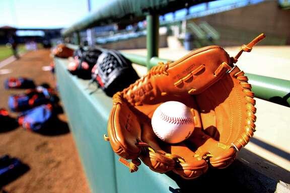 A ball and glove