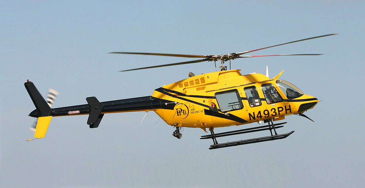 A Bell 407 helicopter, similar to the one that crashed in the Poconos killing Tighe Sullivan, of Darien. (euthman/Flickr.com)