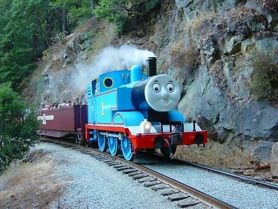 Thomas is a really useful engine for pulling all kinds of cargo. Photo: Roaring Camp
