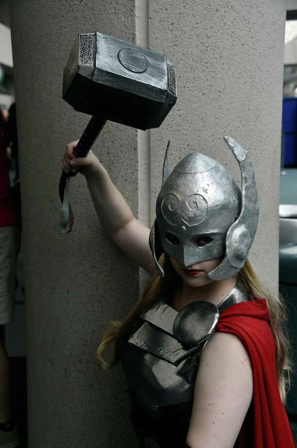 Thor 3The pose really adds to the costume.Though all three are not entirely true to the original costume, we have to give this one to Thor 2. He was just way to cute to pass up. Photo: Frazer Harrison, Getty / 2014 Getty Images