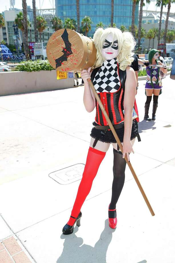 Harley Quinn 3We are pretty sure the original wore a jumpsuit. Just saying.  Photo: Joe Scarnici, Getty / 2014 Joe Scarnici