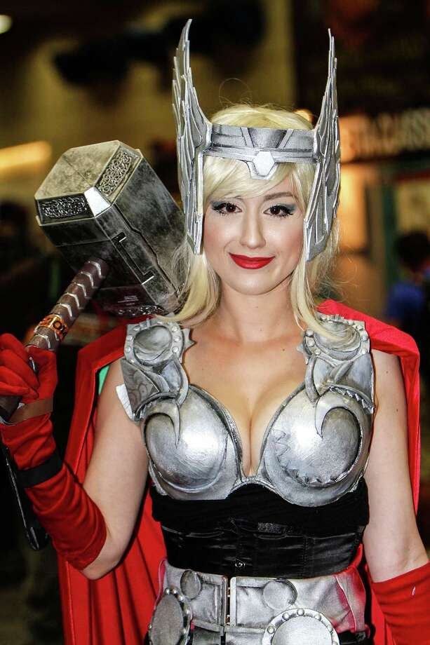 In comic books the hero always wins. That would be the case here too except at Comic-Con International 2014 there were many heroes, and as we all know there can only be one. Check out the heroes of the convention and see who wore it best. Thor 1Something tell us she wasn't going for the exact original look.  Photo: Daniel Knighton, Getty / 2014 Daniel Knighton