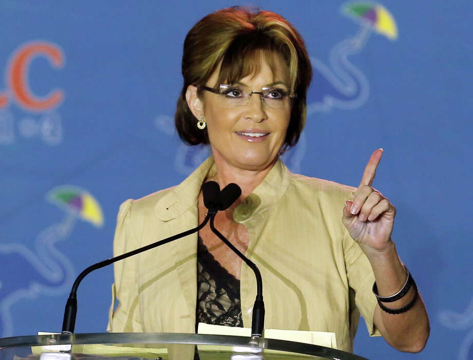 "Former Republican vice presidential candidate Sarah Palin slammed HBO's ""True Blood"" for portraying Republicans in a perceived negative light. An actress on the show shot back Saturday, saying, ""She'll weigh in on anything.""Pictured, a May 29, 2014 file photo shows Sarah Palin speaking in New Orleans, La. In an interview, former Secretary of State Hillary Rodham Clinton revealed that shortly after Palin was nominated as the 2008 Republican vice presidential candidate, the Obama campaign proposed that Clinton go on the attack against her. Clinton said she refused. Photo: Bill Haber, AP / FR170136 AP"