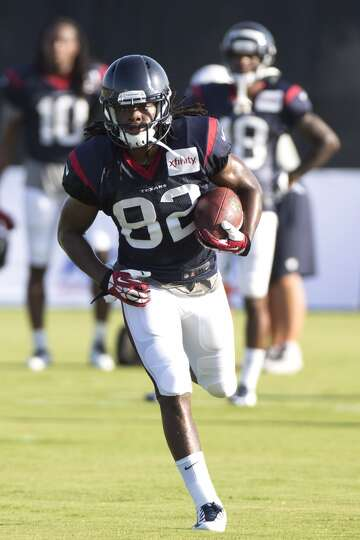Day 3: July 28  Texans wide receiver Keshawn Martin runs upfield af
