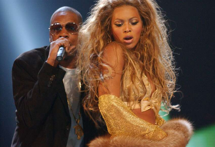 2003: Still no confirmation that the pair is together, but with duets like 'Crazy in Love,' they're really just fueling their own flames at this point. Here, the maybe-maybe-not couple performs their hit song at the 2003 MTV Video Music Awards.