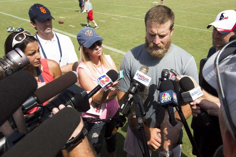 Day 3: July 28  Houston Texans quarterback Ryan Fitzpatrick speaks