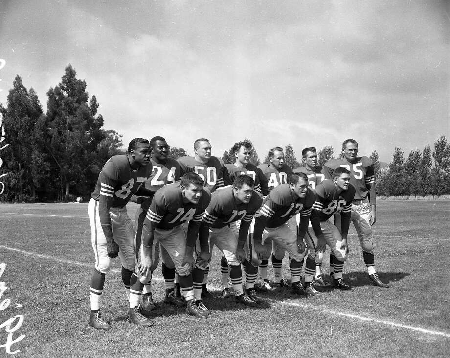 San Francisco 49ers training camp 8/5/1957 .. 49ers defensive unit on field Photo: Duke Downey, The San Francisco Chronicle
