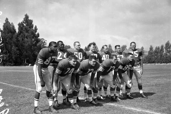 San Francisco 49ers training camp 8/5/1957 .. 49ers unit  on field