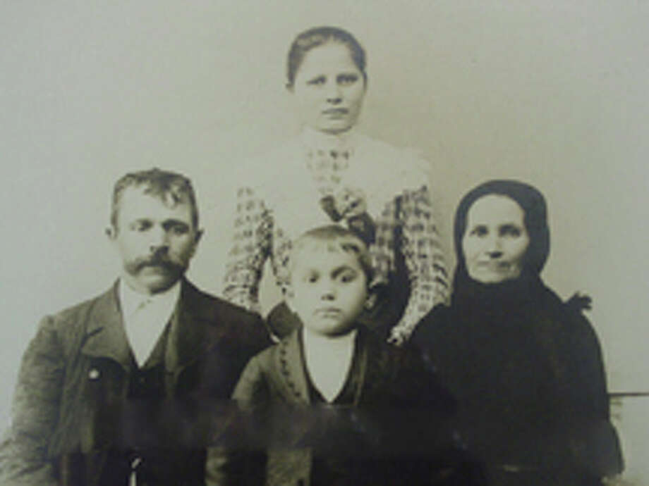 The Anti family immigrated from Hungary in 1906. Pictured are Janos, Katalin Varga, Maria and Janos  Anti. Courtesy: Fairfield Museum and History Center Photo: Contributed Photo / Fairfield Citizen