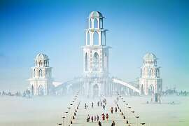 "The Temple of Transition From the book, ""Burning Man, Art on Fire,"" by Jennifer Raiser"