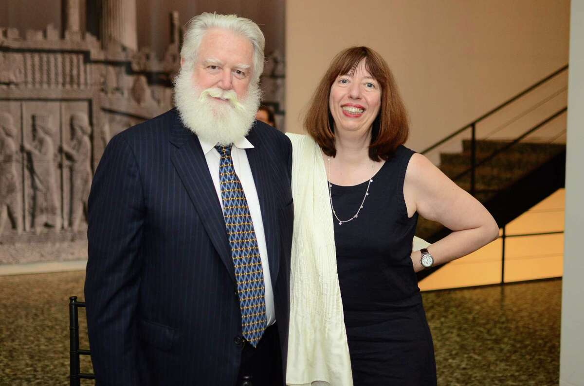 James Turrell and Alison de Lima Greene at the patrons dinner for James Turrell at The Museum of Fine Arts Houston - Caroline Weiss Law Building in Houston, TX, June 6, 2013.