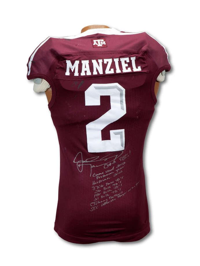 promo code 4ede7 d5a9a Johnny Manziel football jersey selling - San Antonio Express ...