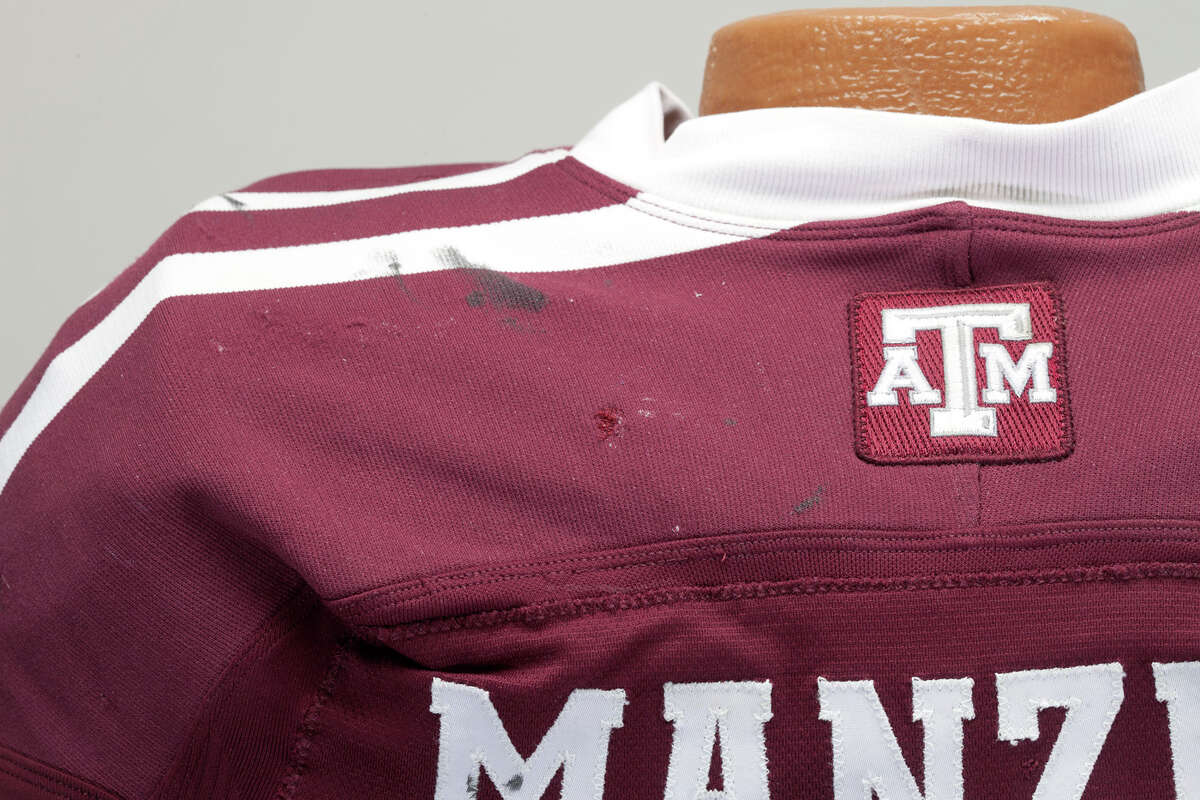 A Texas A&M football jersey worn in six games by Johnny Manziel is expected to sell for more than $100,000, according to SCP Auctions, the company selling the uniform.