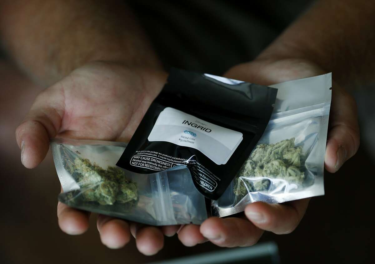"""Eaze delivery persons will arrive at the door with the medical marijuana in plastic containers for patients Monday July 28, 2014. A new company called Eaze aims to be """"uber for pot"""" offering on demand deliveries of medical marijuana beginning in San Francisco, Calif."""
